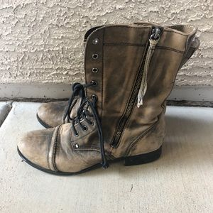 """Leather women's """"combat boots"""""""
